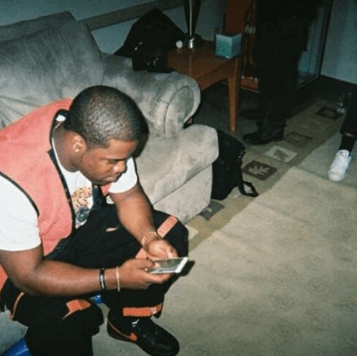 Asap Ferg in the Vlone x Nikelab Air Force 1 Low