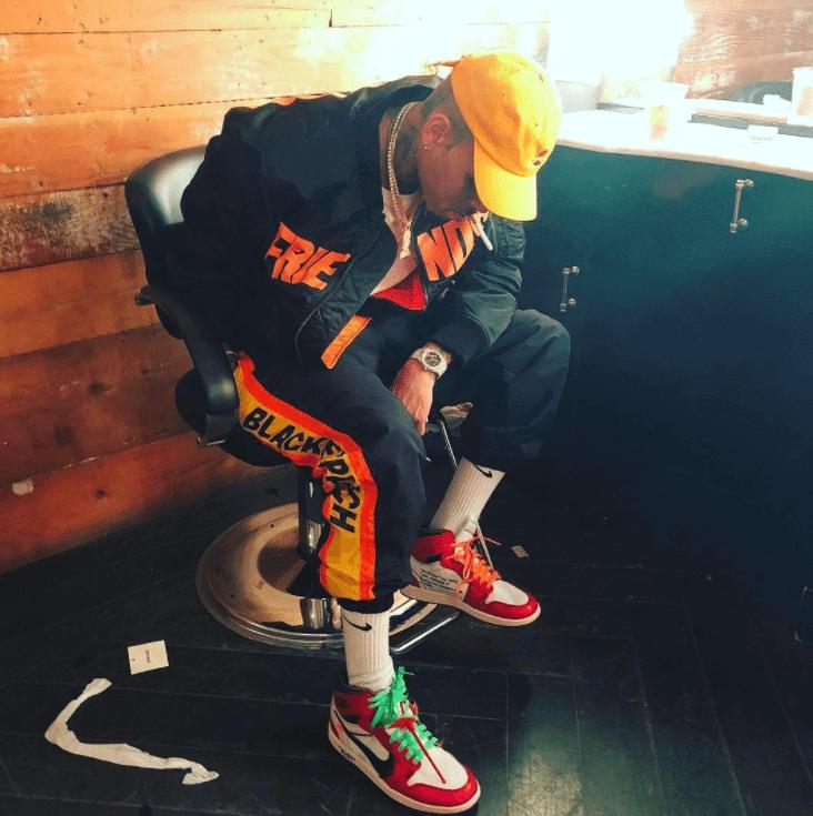 """Chris Brown in the Nike The 10 """"Air Jordan 1"""""""