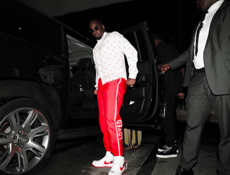 Diddy in the NikeLab Air Force 1 High x RT