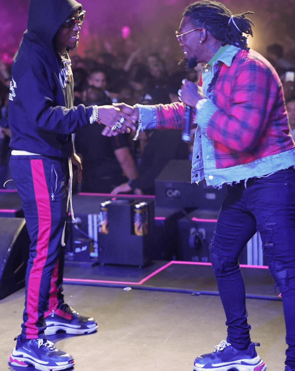 Offset & Takeoff in the Balenciaga Triple S Sneakers