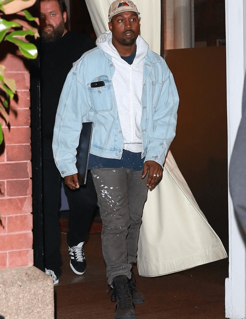Kanye West in the Yeezy Boots