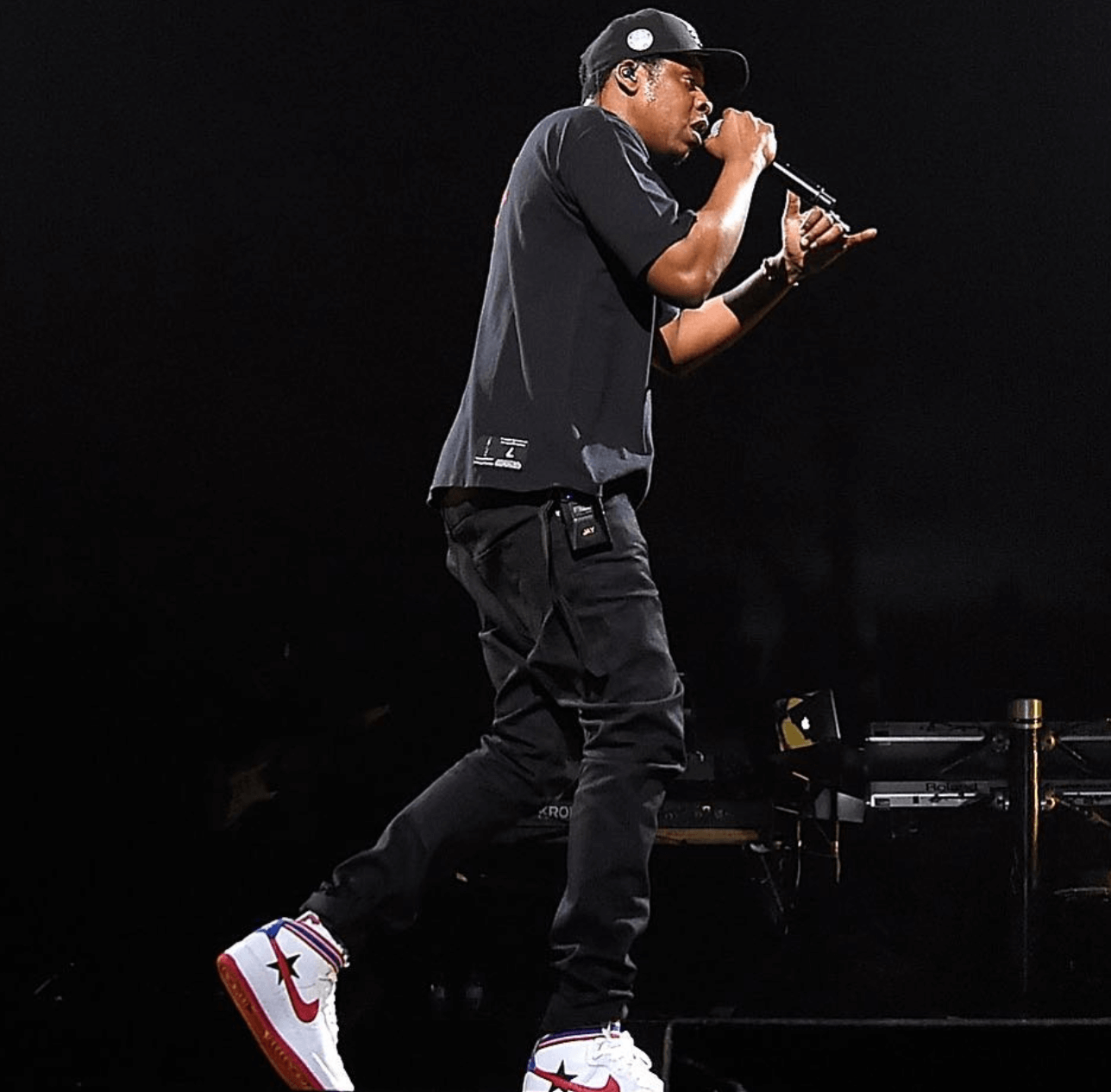 Jay Z in the Nikelab Air Force 1 Mid RT