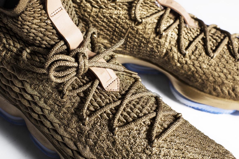 """Nike LeBron 15 """"Gold"""" Custom"""