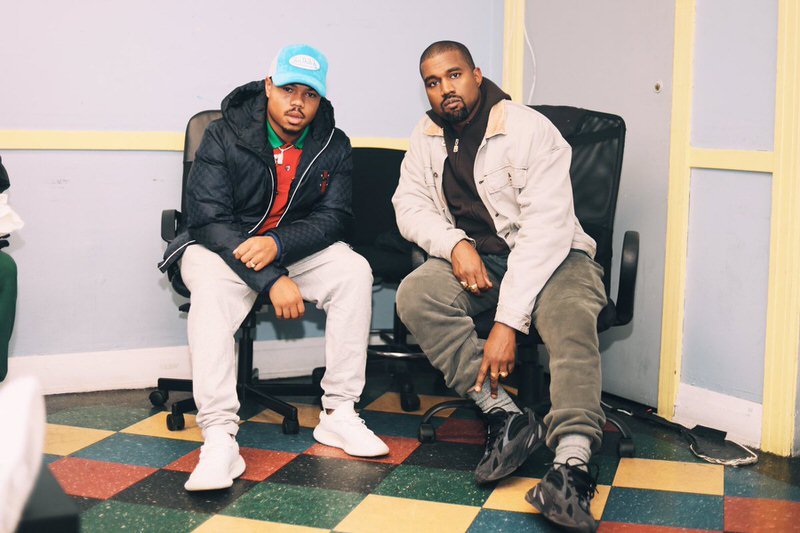 Taylor Bennett in the adidas Yeezy Boost 350 V2 & Kanye West in the adidas Yeezy 500