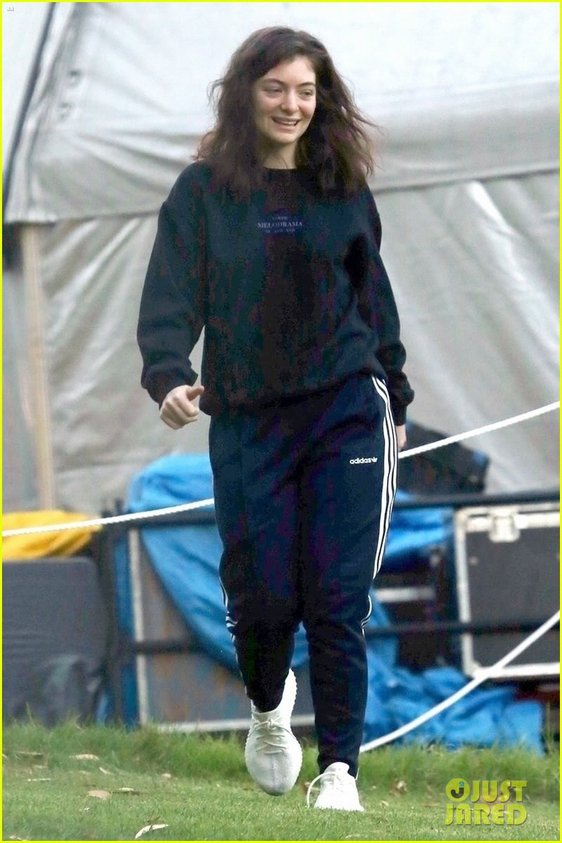 Lorde in adidas Yeezy BOOST 350