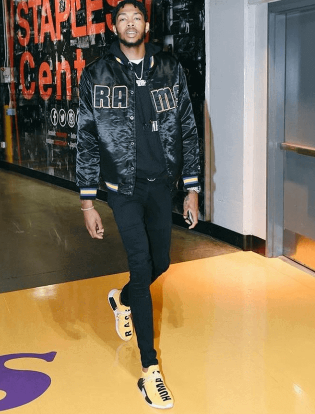 Brandon Ingram in the adidas PW x NMD Hu