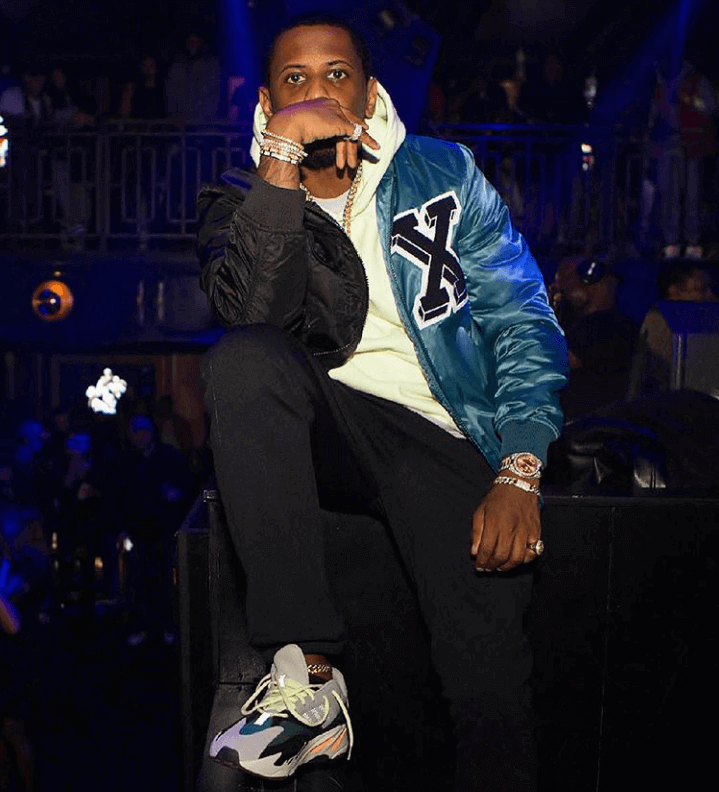 Fabolous in the adidas Yeezy 700
