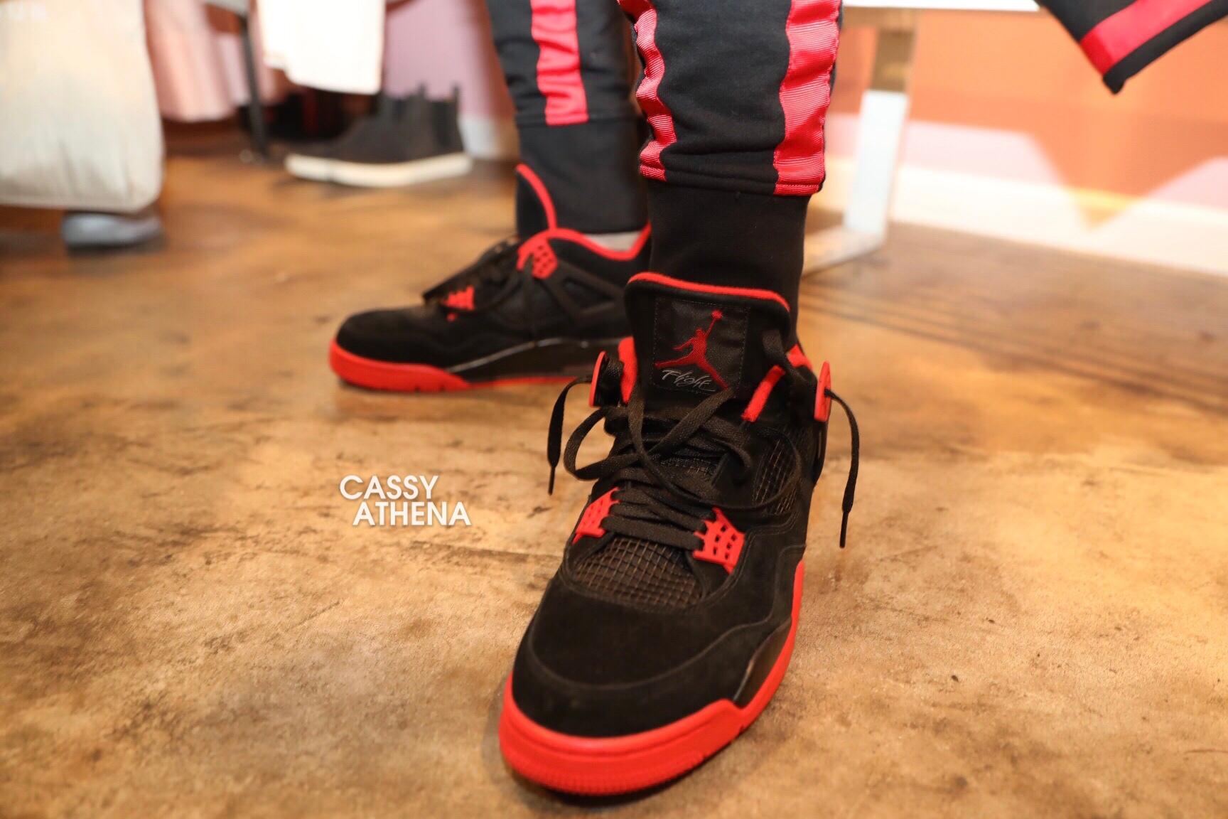 Chris Paul Rocks New Air Jordan 4 PE
