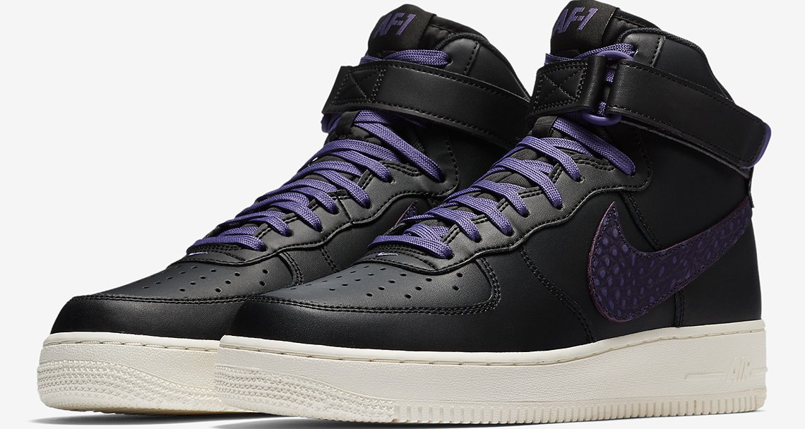 Nike Air Force 1 High Black/Purple