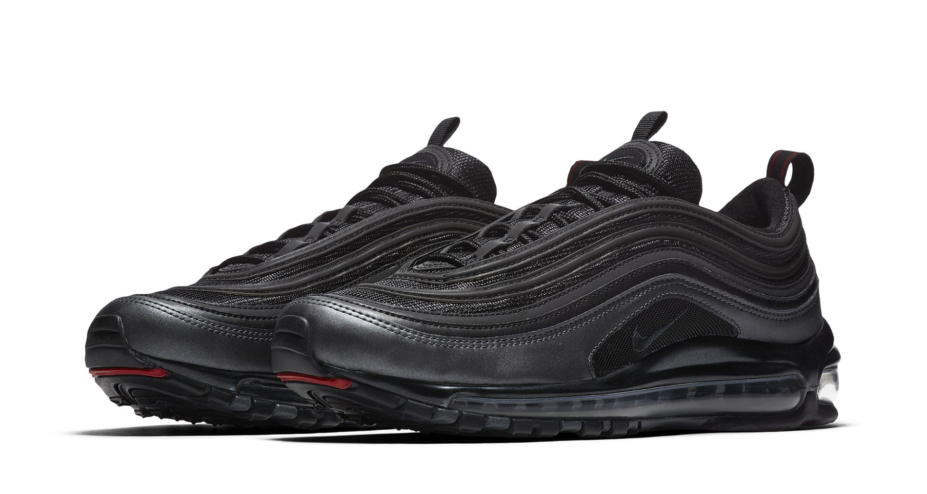 nike air max 97 black university red preview. Black Bedroom Furniture Sets. Home Design Ideas