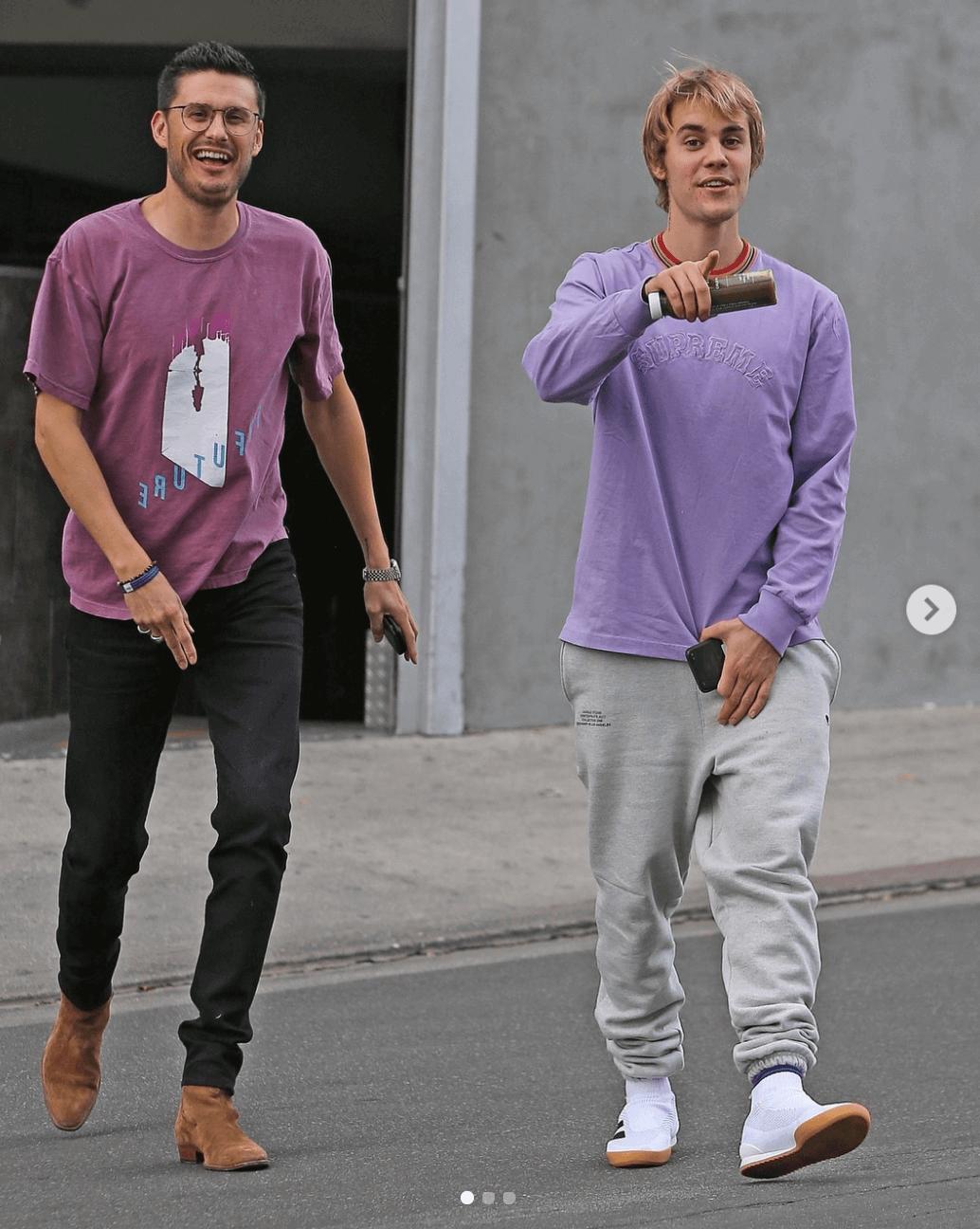 Justin Bieber in the GOSHA RUBCHINSKIY x adidas Ace 16+
