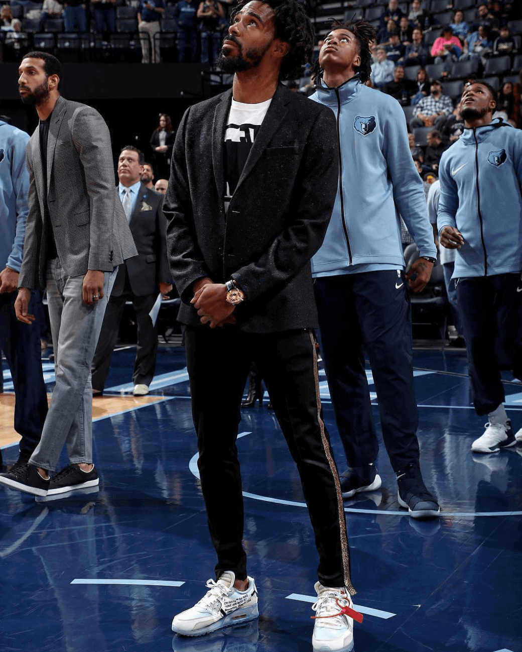 Mike Conley in the Off White x Nike Air Max 90