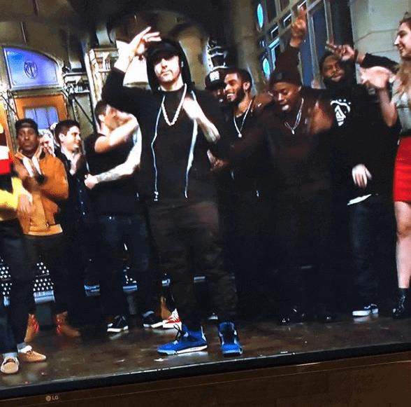 """Eminem in the Air Jordan 4 Retro """"Eminem"""""""