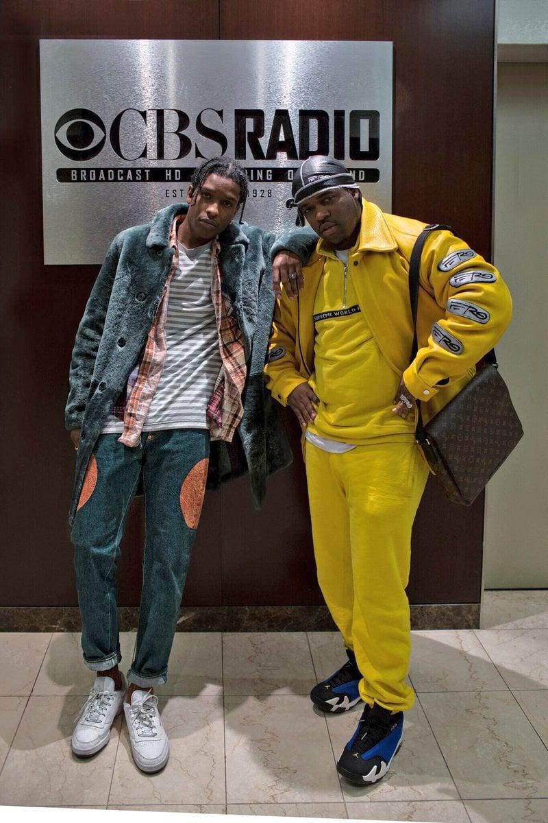 "A$AP Rocky in the Gosha Rubchinskiy x Reebok Phase 1 Pro & A$AP Ferg in the Air Jordan 14 Low ""Laney"""