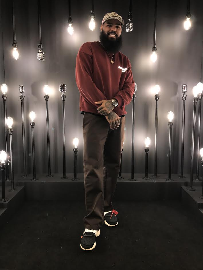 Stalley in the Off White x Nike Air Presto
