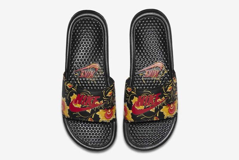 """Nike Benassi Slide """"Russian Floral"""" Pack"""
