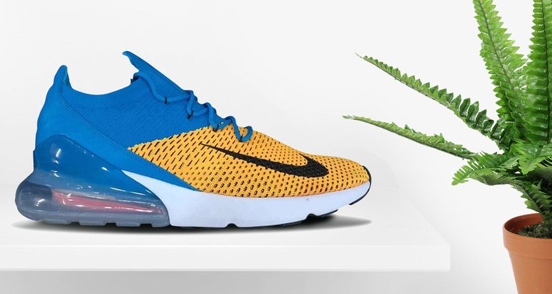 53fc57a62d9c ... Nike Air Max 270 Flyknit Blue Yellow
