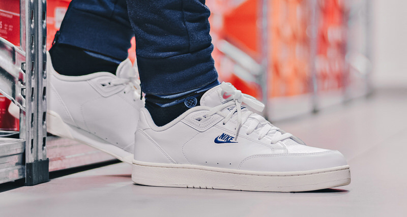 nike grandstand ii white navy available now nice kicks. Black Bedroom Furniture Sets. Home Design Ideas