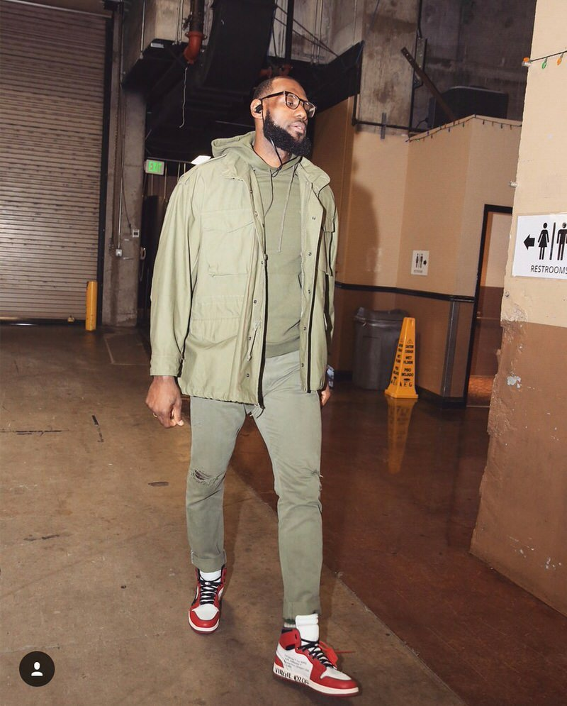 Wondering LeBron's favorite tone is olive or OFF-WHITE?