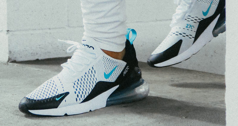2018 Nike Air Max 270 Teal White Dusty Cactus Black