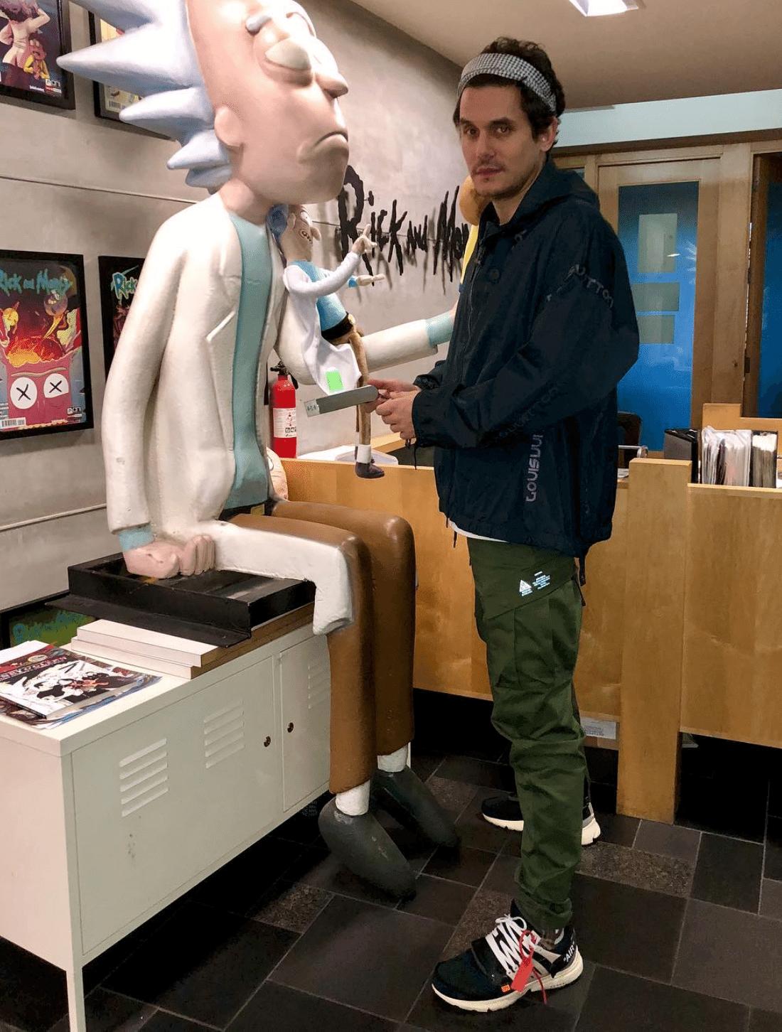 John Mayer in the Off White x Nike Air Presto