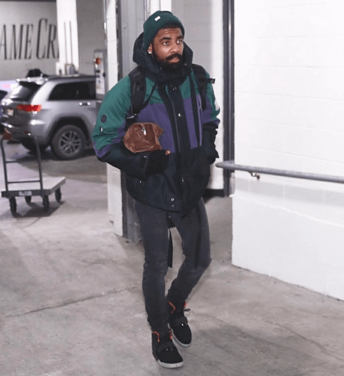 Kyrie's entire wardrobe is dripping with nostalgia and grails.