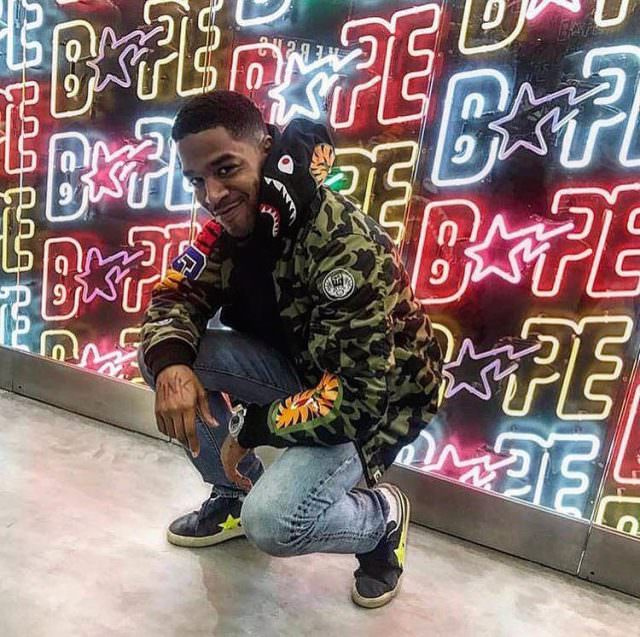Kid Cudi's pairing of his Bape Shark hoodie and Golden Goose sneakers is a wicked awesome look that only a rockstar could replicate.