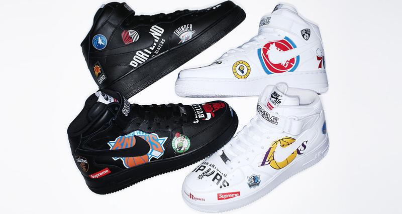 Supreme x NBA x Nike Air Force 1 Mid Pack