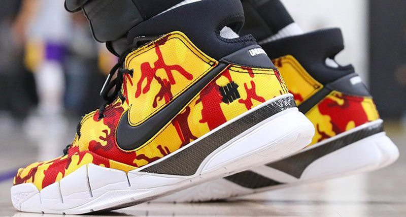 "Undefeated x Nike Zoom Kobe Protro ""Yellow Camo"" PE"