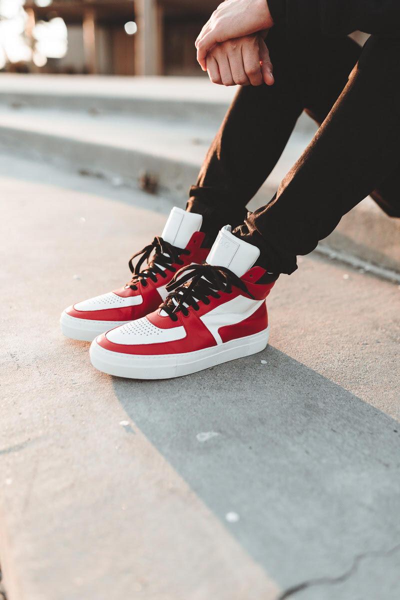 N.D.G. Studio 1984 BBall Sneaker Red/White-Black