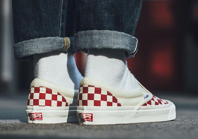 """Vans OG Classic Slip-On """"Red Checker"""""""