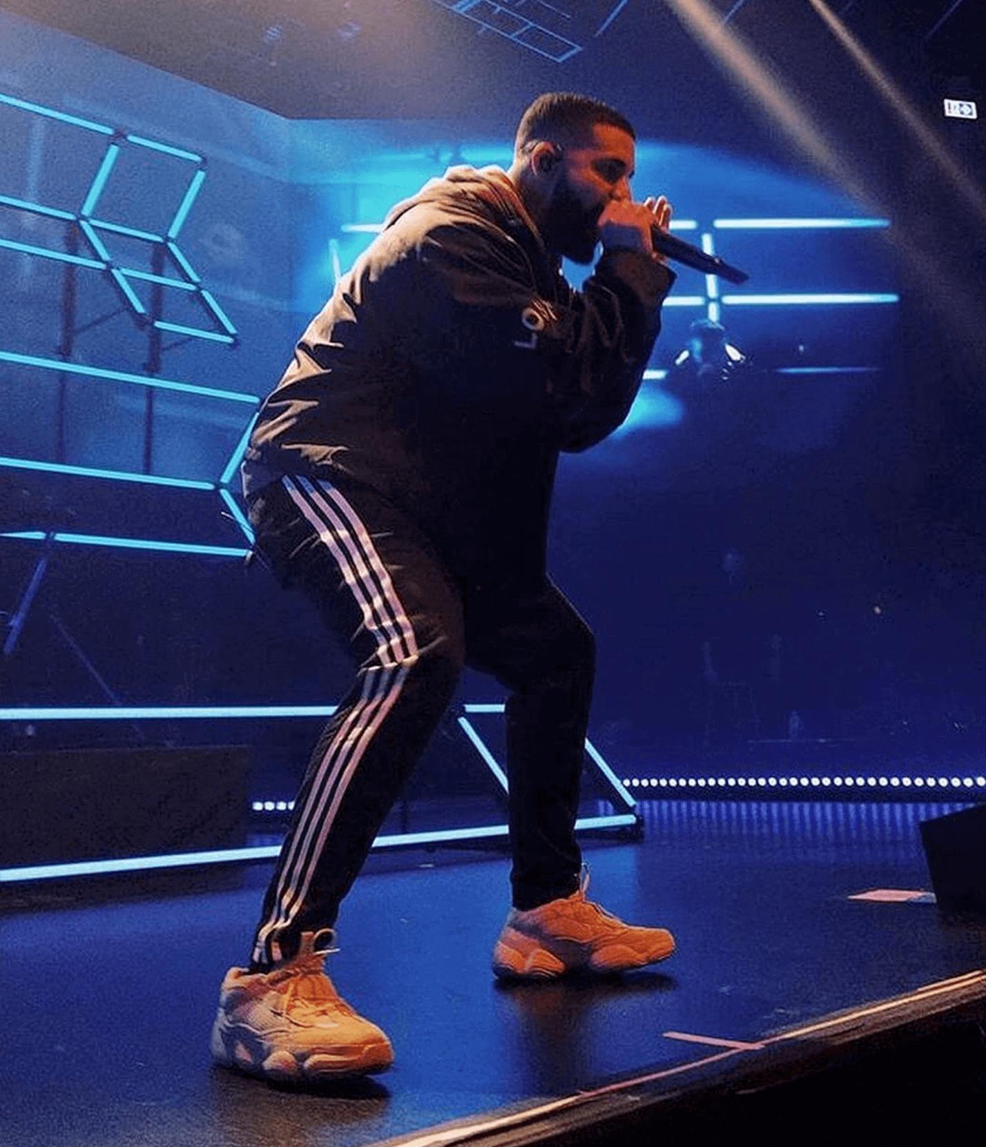 """Drake in the adidas Yeezy 500 """"Blush"""""""