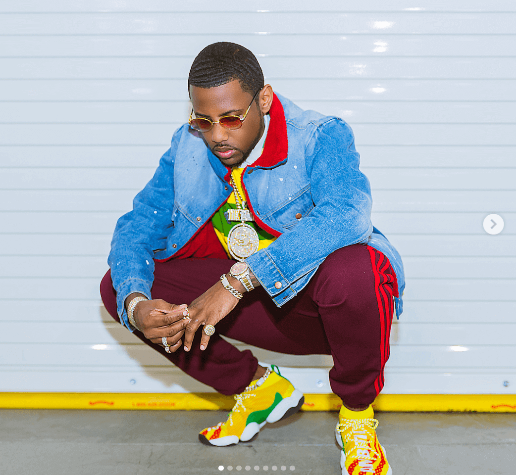 Fabolous in the Pharrell Williams x adidas BYW