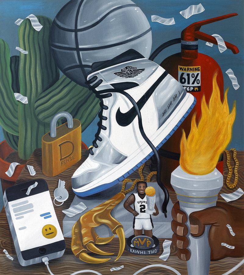 "Kawhi Leonard's Air Jordan 1 ""Pass the Torch"""