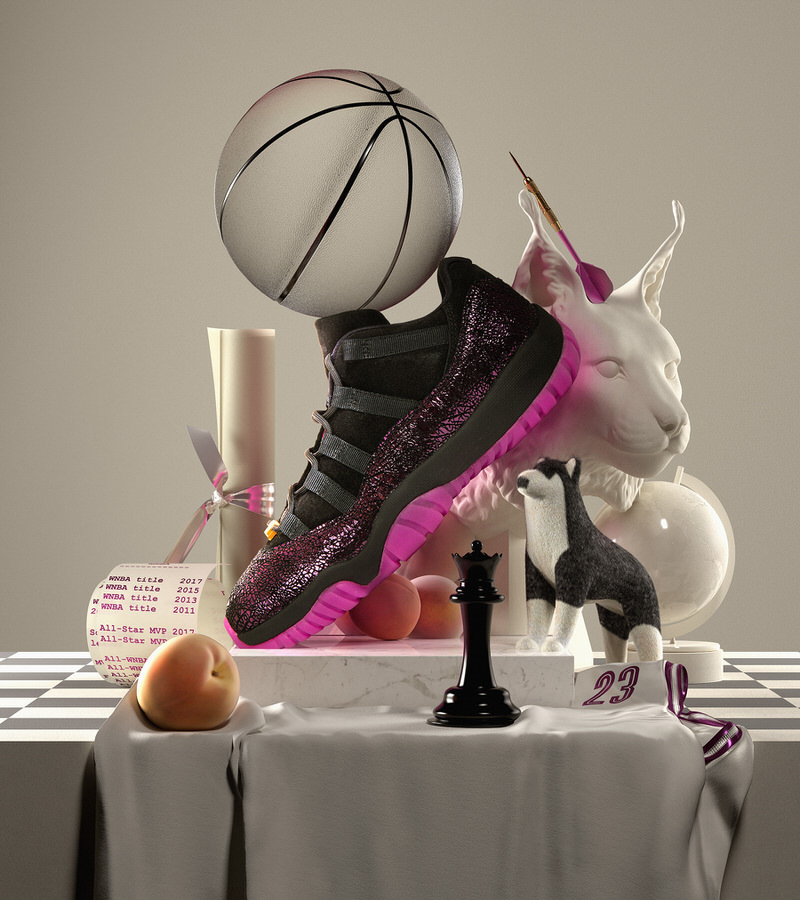 "Maya Moore's Air Jordan XI Low ""Rook to Queen"""