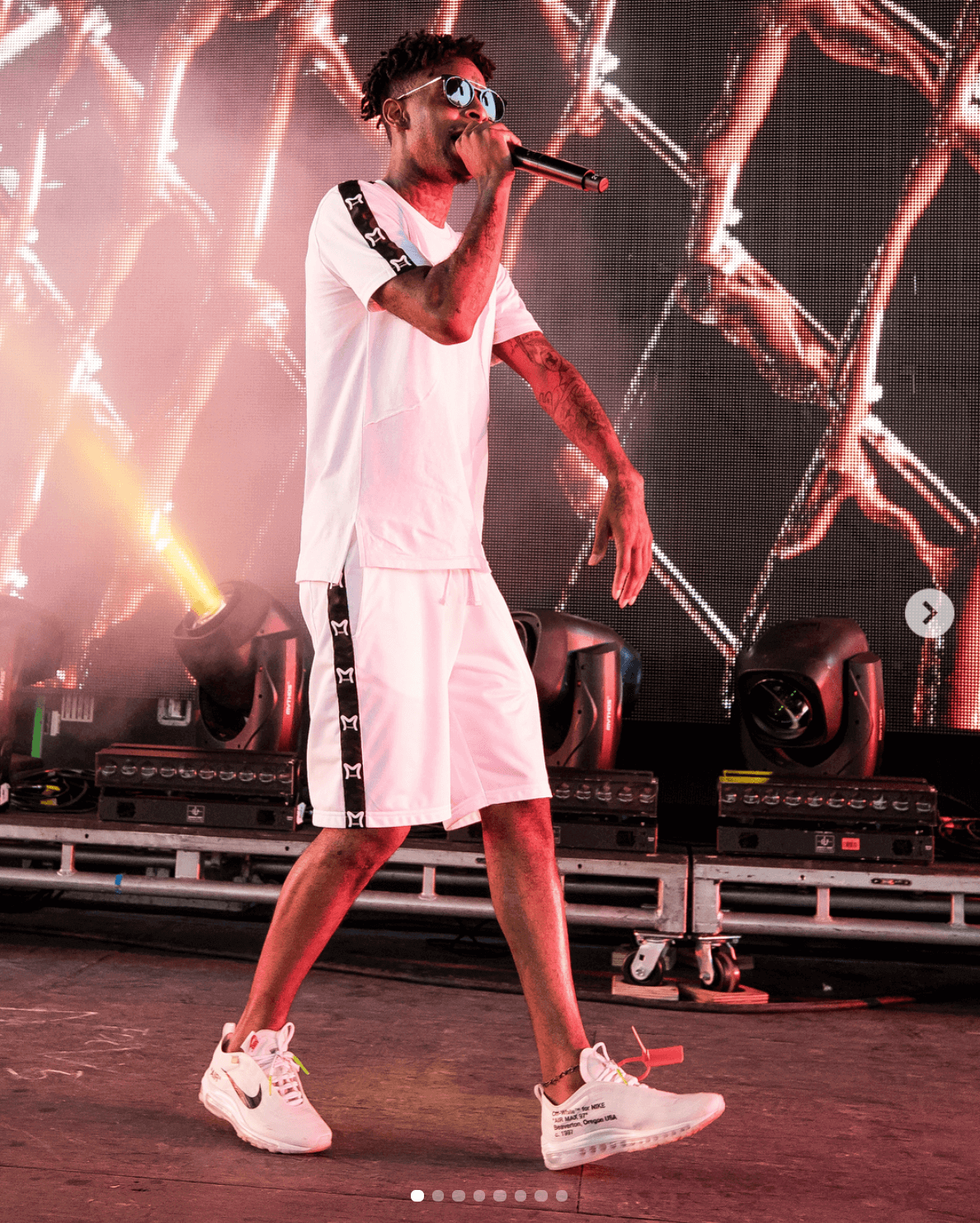 21 Savage in the Off-White x Nike Air Max 97