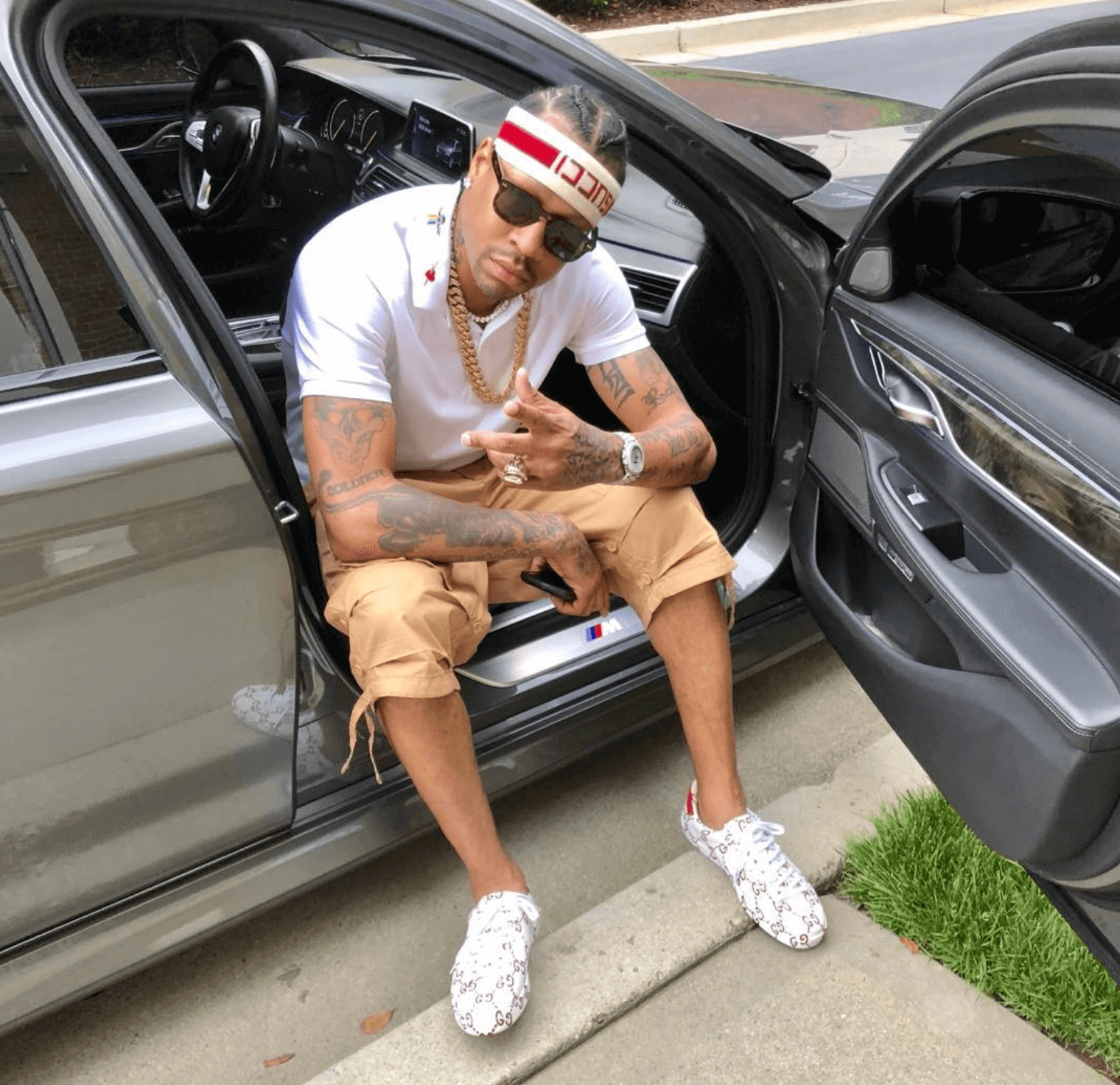 Allen Iverson in the Gucci Sneakers