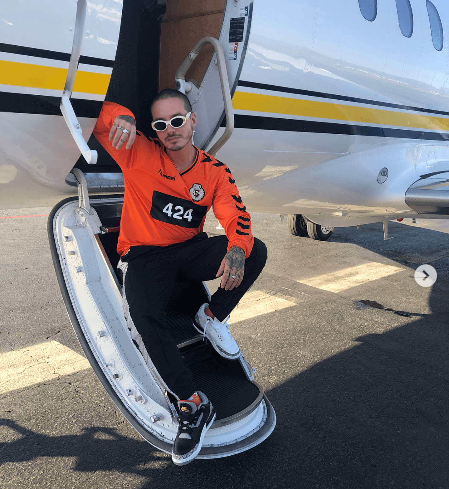 J Balvin in the Air Jordan 3