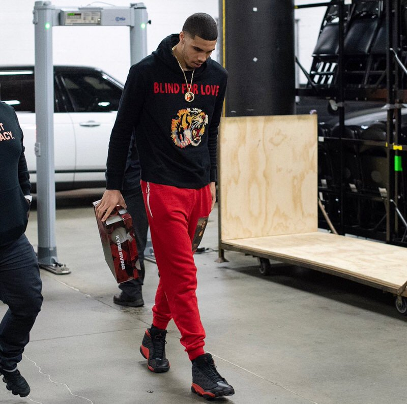 "Jason Tatum in the Air Jordan 13 Retro ""Bred"""