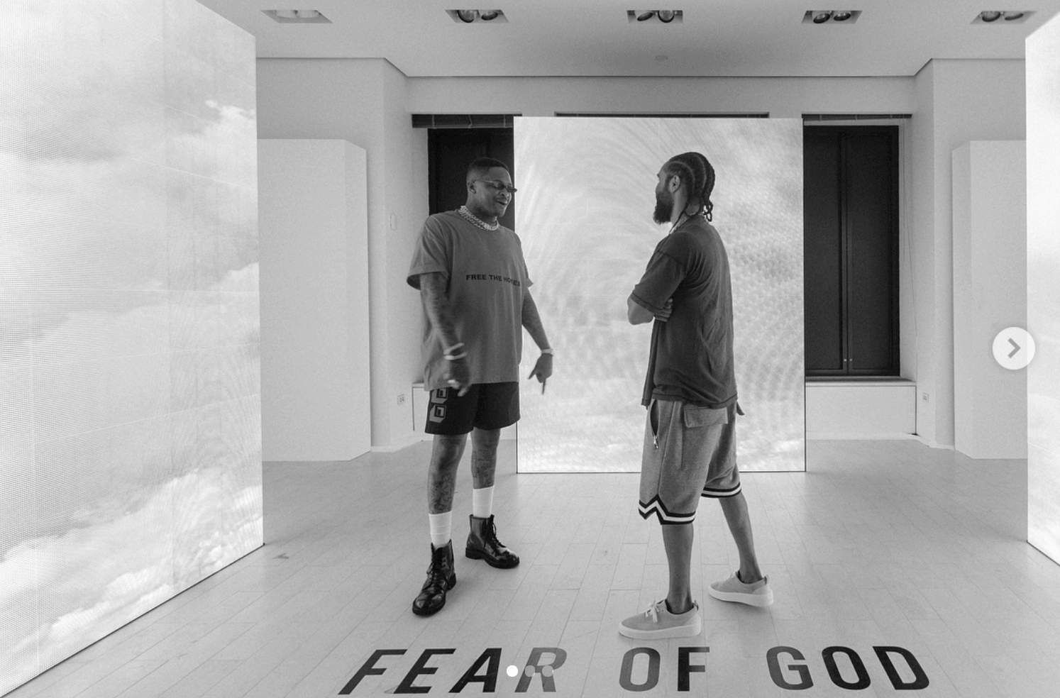Jerry Lorenzo in the Fear of God Sneakers
