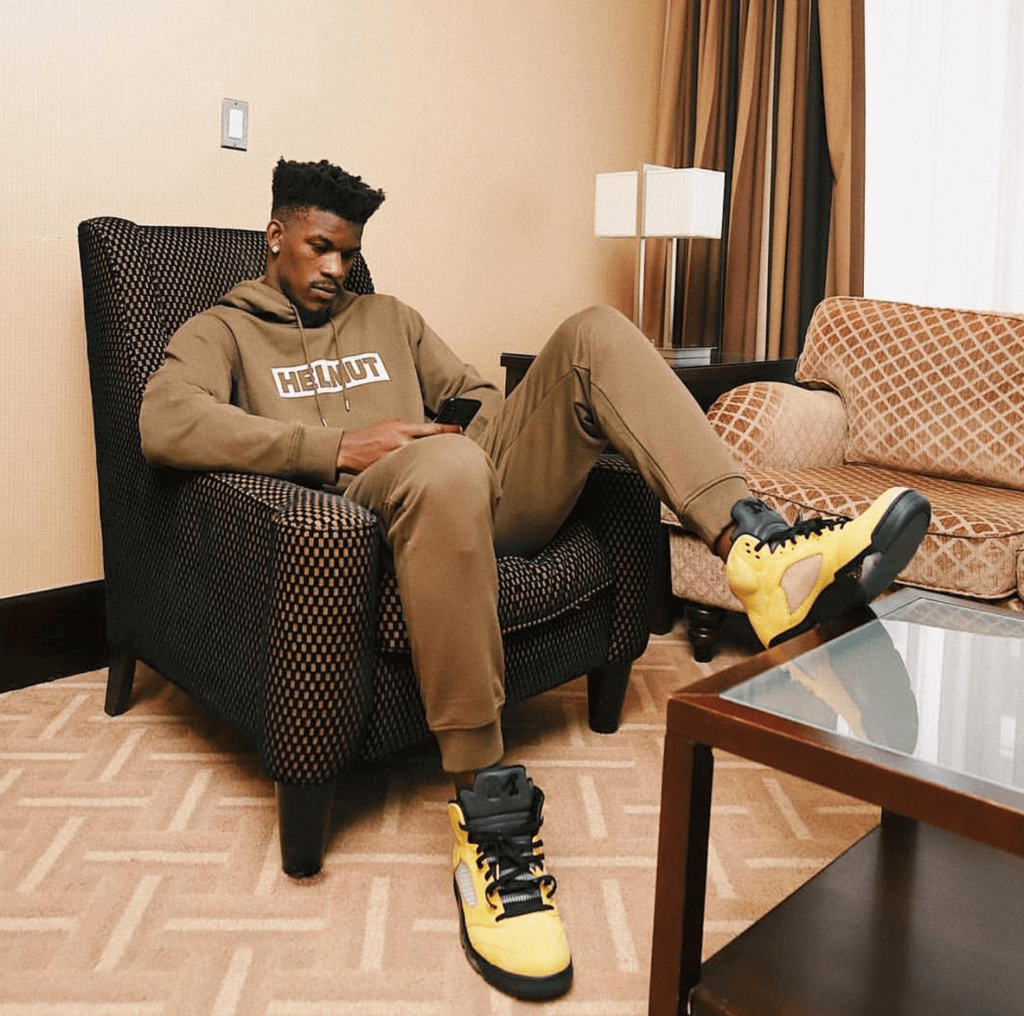 "Jimmy Butler in the Air Jordan 5 ""Michigan"""