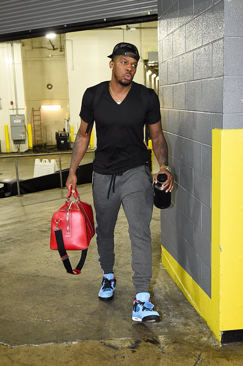 "Joe Johnson in the Travis Scott x Air Jordan 4 ""Cactus Jack"""