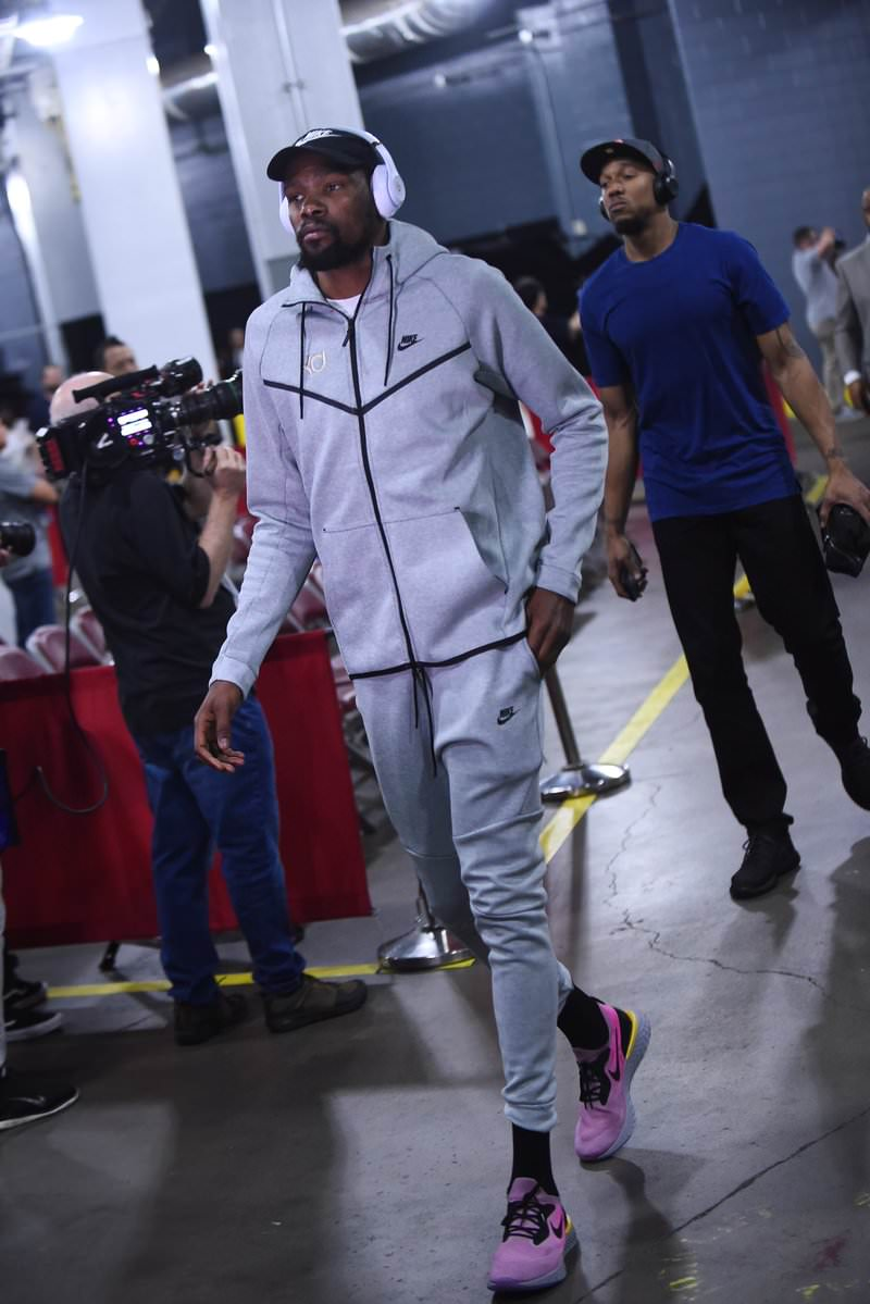 Kevin Durant in the Nike Epic React Flyknit