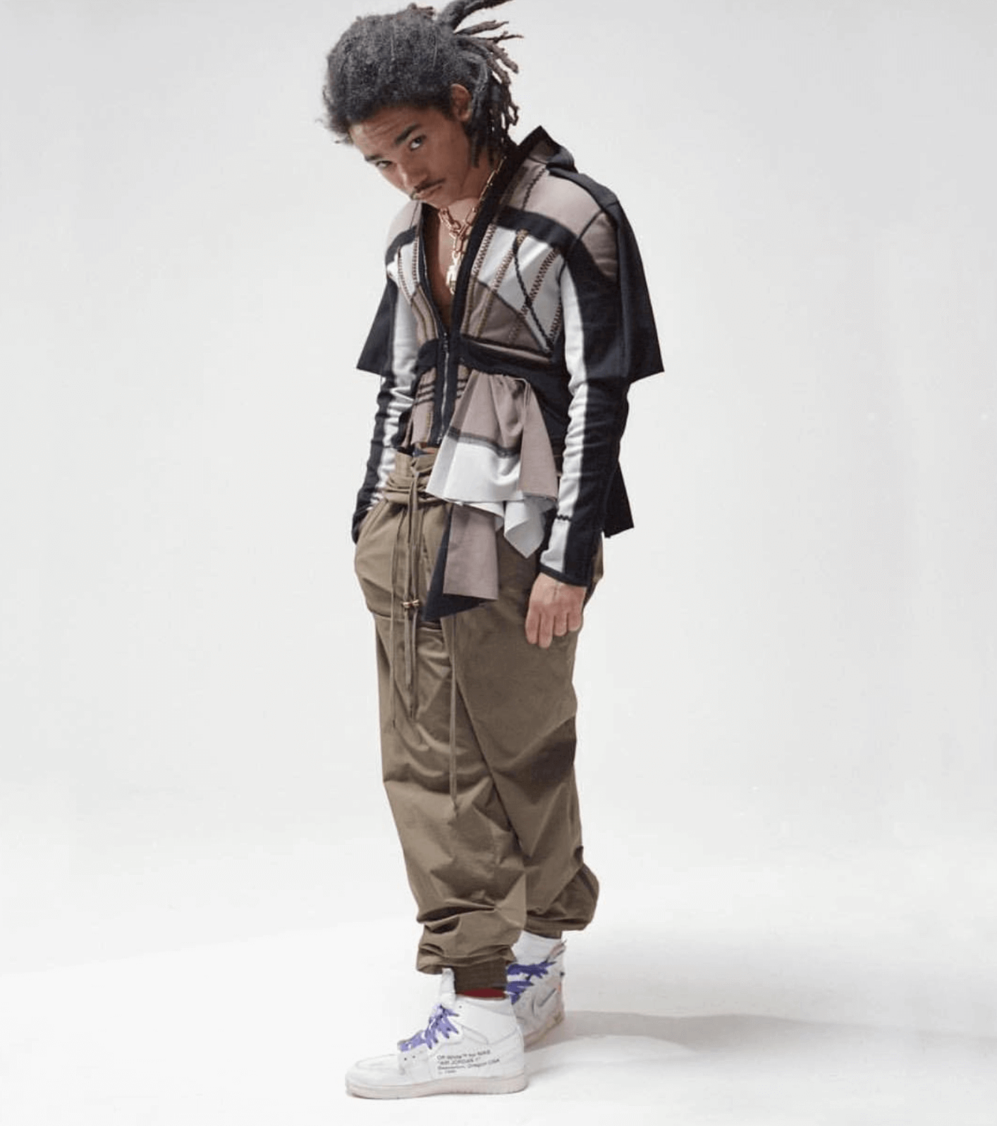 Luka Sabbat in the Off White x Air Jordan 1