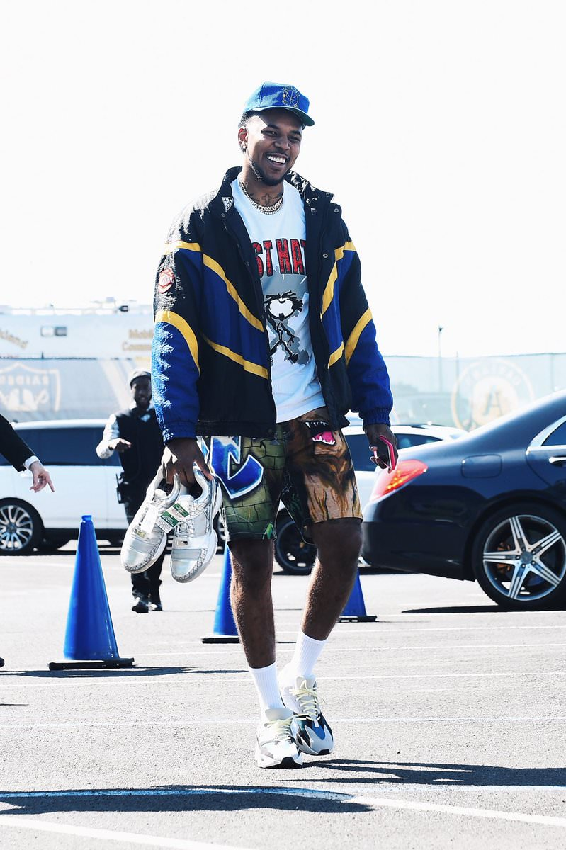 Nick Young in the adidas Yeezy Boost 700