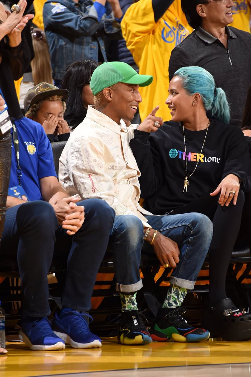 Pharrell Williams in the PW x adidas BYW X