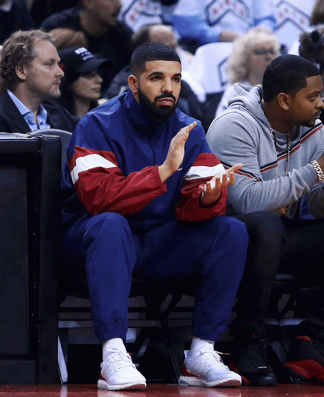 Drake in the adidas Ultra Boost