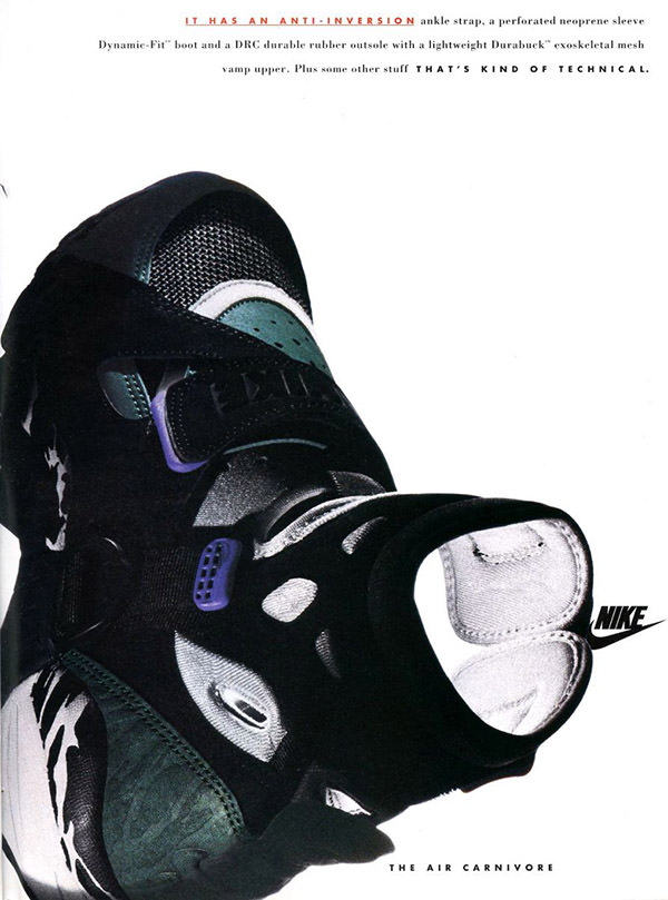 Nike Air Carnivore magazine ad (1993)