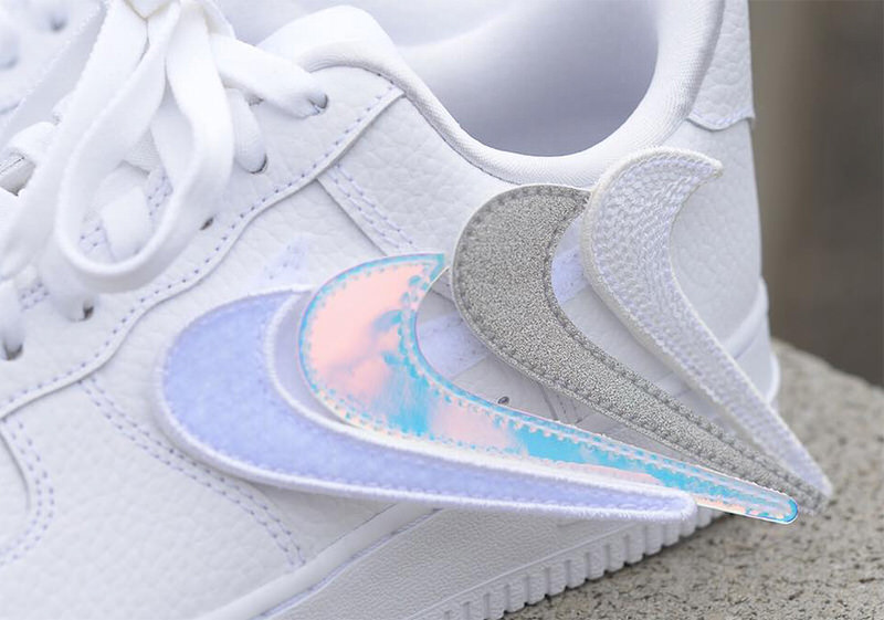 Nike Air Force 1-100 for Women Features Removable Swoosh Logos ...