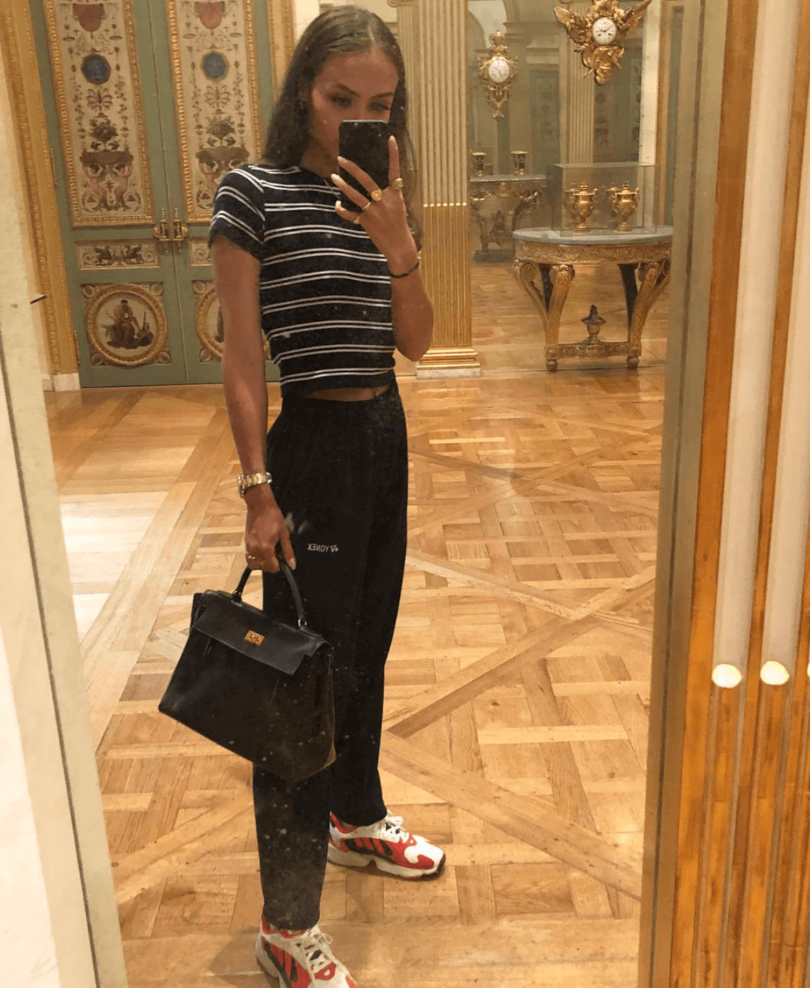 Emily Oberg in the adidas Yung 1